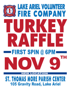 Lake Ariel Volunteer Fire Company  Turkey Raffle