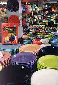 Holly Ross Pottery offers Fiesta Ware and more in Newfoundland Wayne County Pennsylvania in the Pocono Mountains
